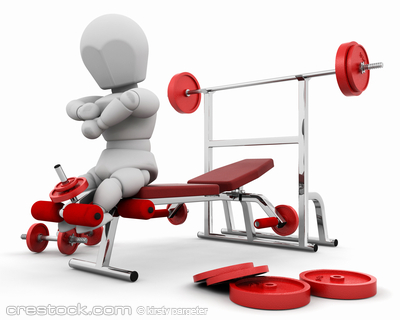 3D render of someone using gym equipment